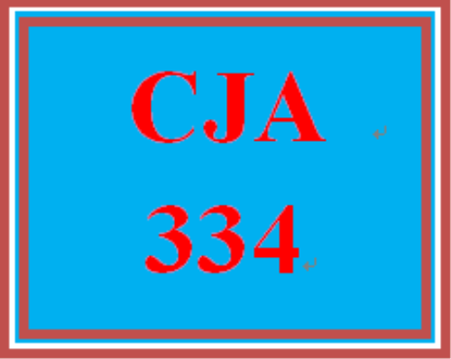 First Additional product image for - CJA 334 Week 4 Learning Team Instructions