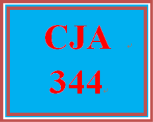 CJA 344 Entire Course | eBooks | Education