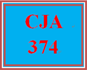 CJA 374 Week 4 Reference List for wk. 5 LT Final Project Week 4 Team Assignment | eBooks | Education