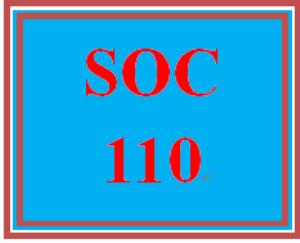 SOC 110 Week 2 Creating an Agenda | eBooks | Education