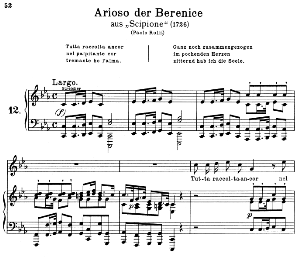 Tutta raccolta ancor: Soprano Aria (Berenice) in C minor (original key). G.F.Haendel. Scipione HWV 20, Vocal Score, Ed. Peters, Gesange für eine frauenstimme, Ed. H. Roth (1915). 2pp. Italian.(A4 portrait) | eBooks | Sheet Music