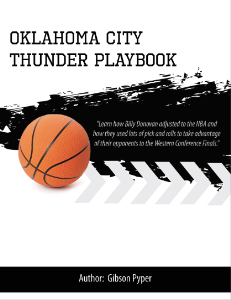 Billy Donovan Oklahoma City Thunder Playbook | eBooks | Sports