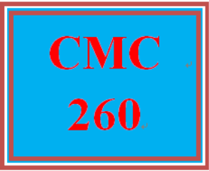 CMC 260 Week 7 Outline for Guidebook Section Six | eBooks | Education