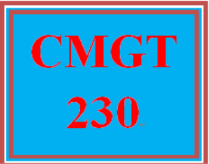 CMGT 230 Entire Course | eBooks | Education