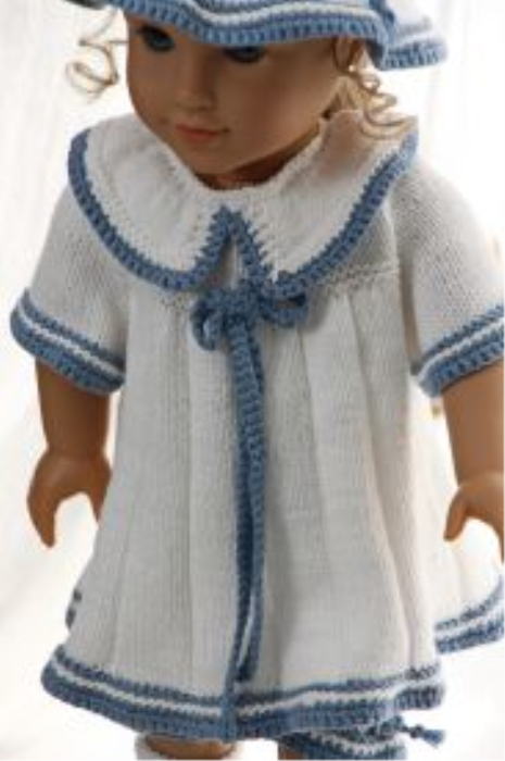 First Additional product image for - DollKnittingPattern 0149D SOPHIA - Sweater, cap, pants and socks-(English)