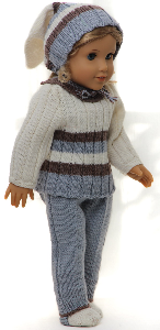 DollKnittingPattern 0149D SOPHIA - Sweater, cap, pants and socks-(English) | Crafting | Knitting | Other
