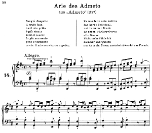 Cangiò d'aspetto: Contralto Aria (Admeto) in D Major (original key). G.F.Haendel.Admeto HWV 21, Vocal Score, Ed. Peters, Gesange für eine frauenstimme, Ed. H. Roth (1915). 4pp. Italian.(A4 portrait) | eBooks | Sheet Music