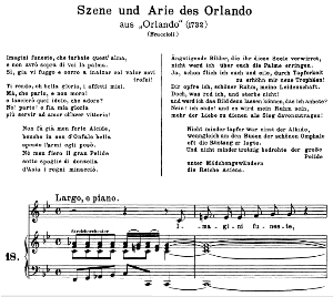 Imagini funeste: Contralto Aria (Orlando) in F Major (original key). G.F.Haendel. Orlando HWV 31, Vocal Score, Ed. Peters, Gesange für eine frauenstimme, Ed. H. Roth (1915). 6pp. Italian. (A4 portrait) | eBooks | Sheet Music