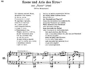 son stanco, ingiusti numi: contralto aria (siroe) in f minor (original key). g.f.haendel. siroe hwv 24, vocal score, ed. peters, gesange für eine frauenstimme, ed. h. roth (1915). 4pp. italian. (a4 portrait)