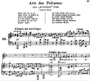 Spero per voi: Contralto Aria (Polinesso) in F minor (original key). G.F.Haendel. Ariodante HWV 15, Vocal Score, Ed. Peters, Gesange für eine frauenstimme, Ed. H. Roth (1915). 4pp. Italian. (A4 portrait) | eBooks | Sheet Music