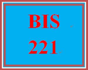BIS 221 Entire Course | eBooks | Education