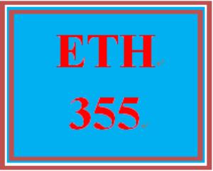 ETH 355 Week 2 Weekly Reflection   eBooks   Education