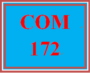 COM 172 Week 1 Research Plan | eBooks | Education