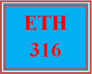 ETH 316 Week 2 Critical Thinking Scenario | eBooks | Education