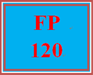 FP 120 Week 4 Quiz – in class | eBooks | Education