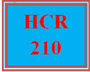 HCR 210 Week 8 Career Self-Reflection II | eBooks | Education