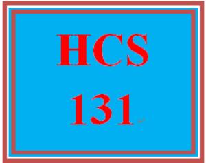 HCS 131 Week 5 Course Presentation | eBooks | Education