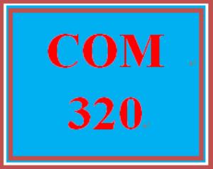 COM 320 Week 1 Journal Worksheet   eBooks   Education