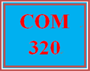 COM 320 Week 2 Self-Assessment and Response | eBooks | Education