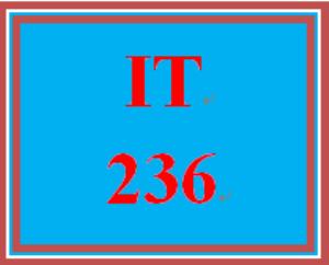 IT 236 Entire Course | eBooks | Education