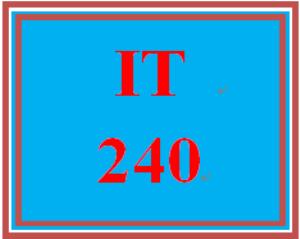 IT 240 Entire Course | eBooks | Education