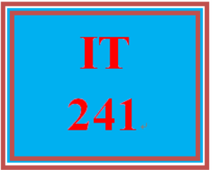 IT 241 Entire Course | eBooks | Education