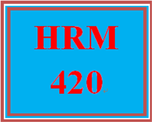 HRM 420 Week 1 Human Resource Risk Seminars (Appendix A) | eBooks | Education