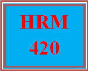 hrm 420 week 4 team summary