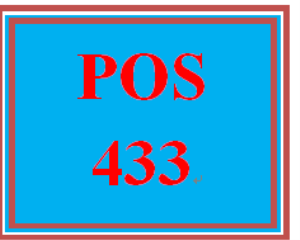 POS 433 Entire Course | eBooks | Education