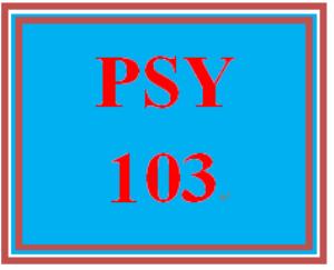 PSY 103 Week 3 Remembering, Feeling, and Thinking Worksheet | eBooks | Education