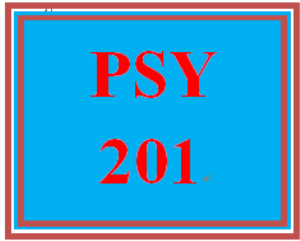 PSY 201 Entire Course | eBooks | Education