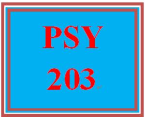 PSY 203 Week 1 Week One Assignment Worksheet | eBooks | Education