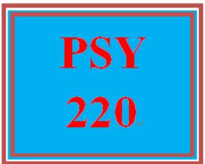 PSY 220 Week 3 Goal Selection | eBooks | Education