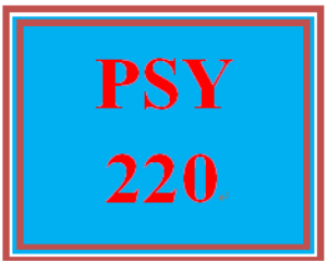 PSY 220 Entire Course | eBooks | Education