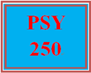 PSY 250 Entire Course | eBooks | Education