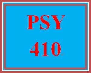 PSY 410 Week 1 Timeline of Abnormal Psychology | eBooks | Education