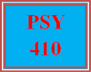 psy 410 week 5 individual programmatic assessment: week five programmatic assessment