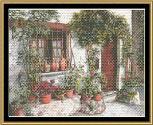 vari dietro la grata cross stitch pattern by mystic stitch