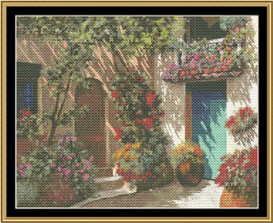 Ii Cortile E I Flori | Crafting | Cross-Stitch | Wall Hangings