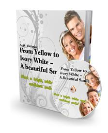 teeth whitening – from yellow to ivory white