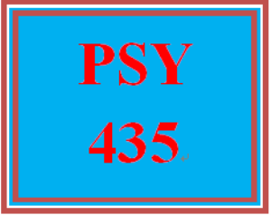 PSY 435 Week 3 Outline for the Week Five Team Paper | eBooks | Education