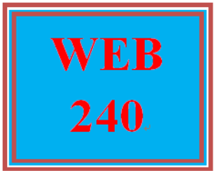 WEB 240 Week 2 Individual: Virtual Organization Project, Part 1 | eBooks | Education