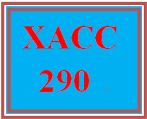 XACC 290 Week 8 Exercise 3 | eBooks | Education