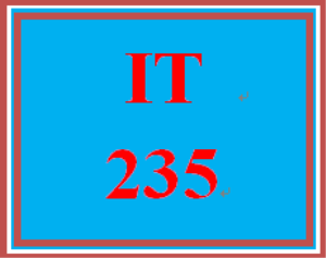 IT 235 Week 5 Banner | eBooks | Education