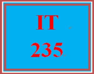 IT 235 Week 7 Finalized Banner | eBooks | Education