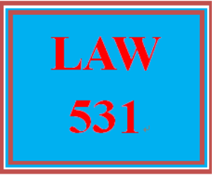 LAW 531 Week 1 Knowledge Check | eBooks | Education