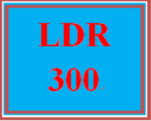 LDR 300 Week 1 Leadership and Management Paper | eBooks | Education