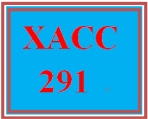 XACC 291 Week 6 Individual Exercises and Problems | eBooks | Education