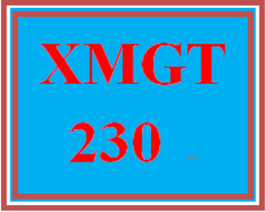 XMGT 230 Week 9 Capstone Discussion Question | eBooks | Education