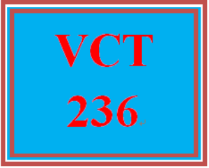 VCT 236 Week 4 Individual: Finalized Banner | eBooks | Education